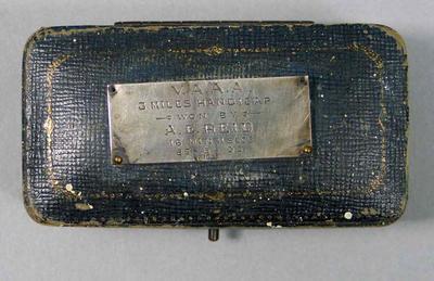 Presentation box - 1st Place, VAAA 3 Miles Handicap 1935