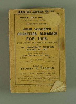 Wisden Cricketers' Almanack, 1908