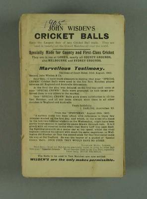 Wisden Cricketers' Almanack, 1907
