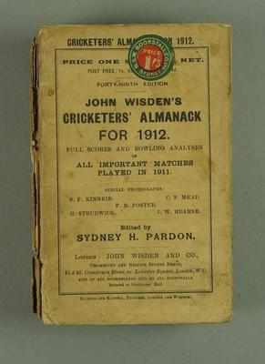 Wisden Cricketers' Almanack, 1912