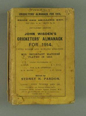 Wisden Cricketers' Almanack, 1914