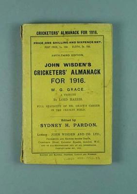 Wisden Cricketers' Almanack, 1916