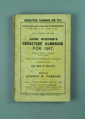 Wisden Cricketers' Almanack, 1917