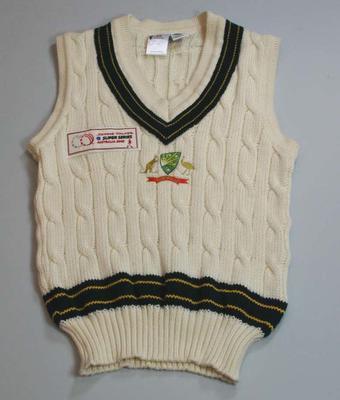 Australian Test cricket vest, 2005 Johnnie Walker Super Series