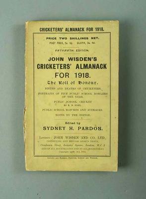 Wisden Cricketers' Almanack, 1918