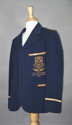 Victorian cycling team blazer, worn by C J Wheeler c1930s
