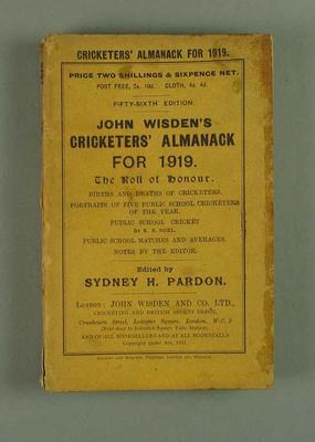 Wisden Cricketers' Almanack, 1919