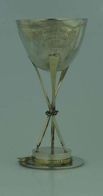 Rowing Trophy - Maiden Pair,  won by Grammer School Club,  Melbourne Regatta 1874 - R. Edwards -  Cox