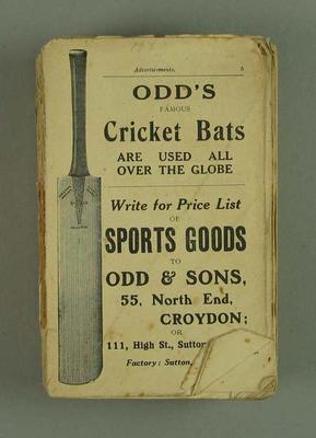 Wisden Cricketers' Almanack, 1921