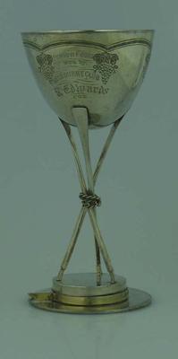 Rowing Trophy - Junior Fours,  won by Melbourne  Club,  Melbourne Regatta 1874 - R. Edwards -  Cox