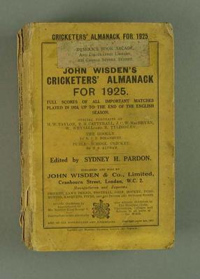 Wisden Cricketers' Almanack, 1925
