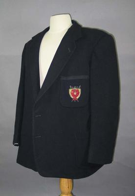 Mercantile Rowing Club blazer c1945; Clothing or accessories; 1987.1621