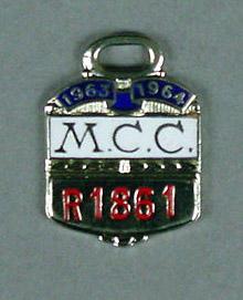 Melbourne Cricket Club membership badge, season 1963/64