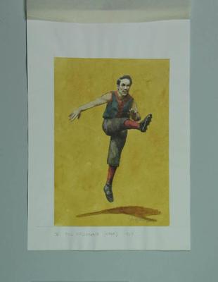 Watercolour, W C McClelland, by artist Robert Ingpen 2001, MCC Tapestry no.36