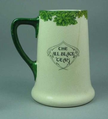 Stein/beer mug, Royal Doulton: 'The All Black Team, Ready for Chances'; Domestic items; M10693