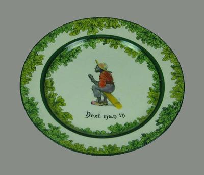 'Next Man In' - Royal Doulton  cricket series plate; Domestic items; M10819