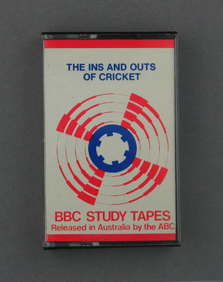 Audio cassette, 'The Ins and Outs of Cricket' presented by Brian 'Johnners' Johnston