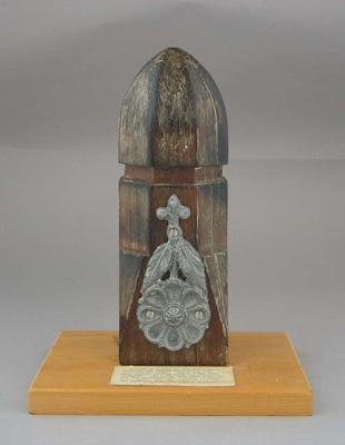 Fence post finial, as used at Melbourne Cricket Ground c1880s