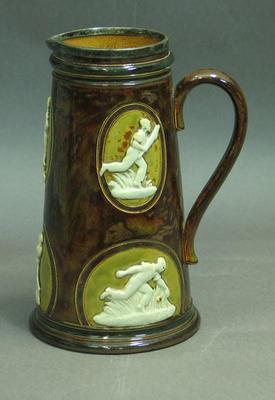 Jug, cricketer designs; Domestic items; M5352