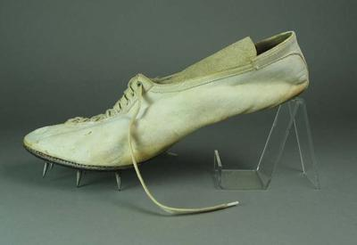 Running shoe, used for Public School Sports at Melbourne Cricket Ground - 1939