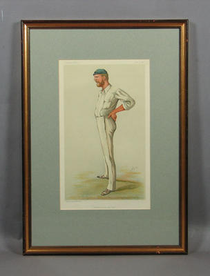"Print of a lithograph, ""Australian Cricket"""