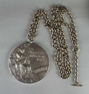 Silver medal won by Raelene Boyle in 100m sprint, 1972 Munich Olympic Games