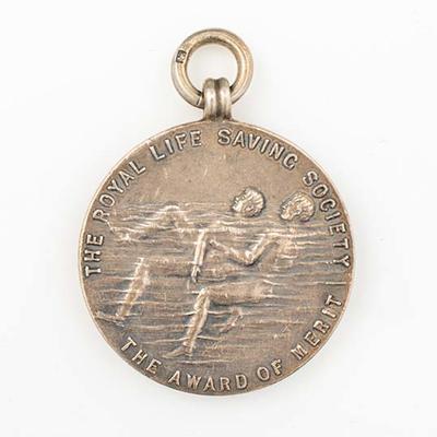Royal Life Saving Society Award of Merit, presented to Lily Beaurepaire - 1911