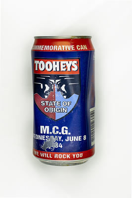Beer can commemorating Rugby League State of Origin match, MCG 1994