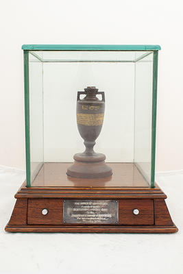 Replica of the Ashes urn, presented by the Marylebone Cricket Club to the Australian Board of Control for International Cricket - November 1948.