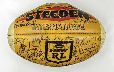 Rugby League State of Origin autographed commemorative ball