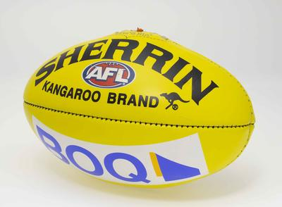 Match ball from the Gold Coast Suns' first AFL game, 2011