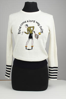 Woollen 'Virginia Slims' jumper worn by Judy Dalton