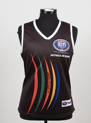 Australian Indigenous team guernsey worn by Natalie Daylight, Women's International Cup, 2011