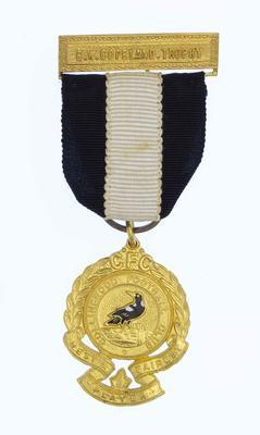 E W Copeland Trophy medal awarded to Des Tuddenham, 1963