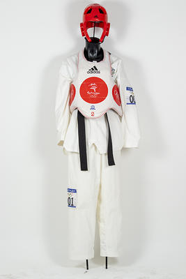 Tae Kwon Do jacket worn by Lauren Burns, Sydney Olympic Games, 2000