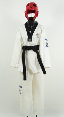 Tae Kwon Do pants worn by Lauren Burns, Sydney Olympic Games, 2000