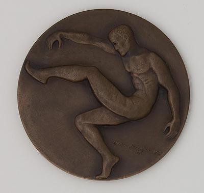 VFL premiership medal awarded to John Nicholls, 1968