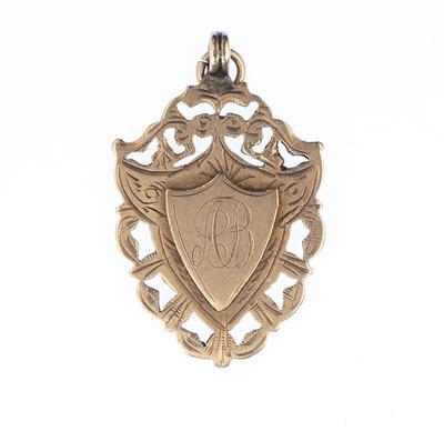 Medal awarded to Albert Broomham, 1904.