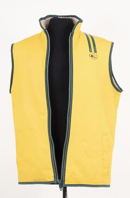Sailing vest worn by John Bertrand, skipper of Australia II, 1983