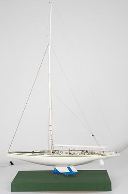 Model of Australia II sail boat.