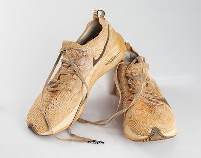 Pair of used runner's shoes, Australian Outback Marathon 2019