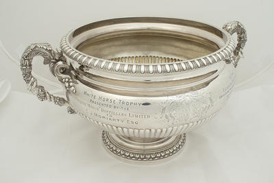 White Horse trophy presented to G.J. Moriarty, Fitzroy F.C. Seasons 1924 & 1925