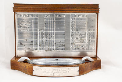 Trophy ashtray presented to Brian Dixon by Melbourne Football Club, VFL Premiers 1957