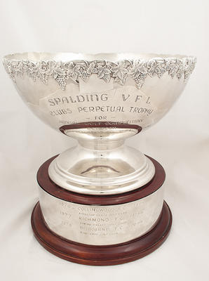 Trophy, Spalding VFL Clubs Perpetual Trophy for Annual Golf Competition 1976-78; Trophies and awards; M10883