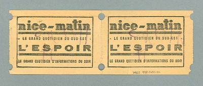 French train tickets, c1950s
