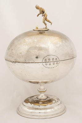Trophy for Best All Round Player of Football Season 1889, won by John Baker