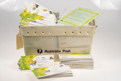 Collection of Australia Post letters addressed to Ian Thorpe, 2000 Olympic Games; Documents and books; Domestic items; 2001.3806