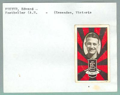Trade card featuring Edward Frever, Allens 1933