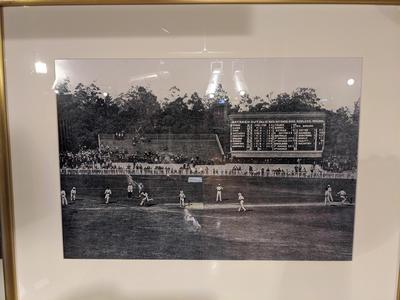 Reproduction photograph, Australia v England Test match at MCG - 1907