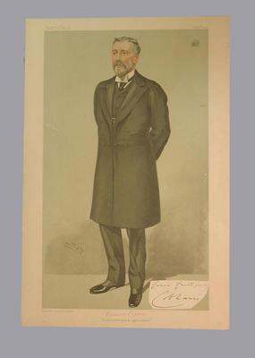 Vanity Fair - Viscount Cobham, Cricket, Railways & Agriculture, 1904, by 'Spy'